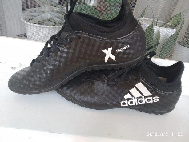 Cороконожки Adidas X 16.3 TF Black/White Размер UK 8 / 42 / 26.5 cm