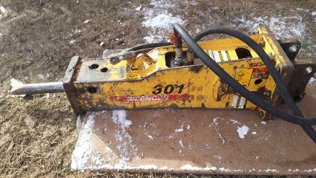 Młot Hydrauliczny Minikoparki 1 - 4 tony Everdigm RHB301 Waga 123 kg