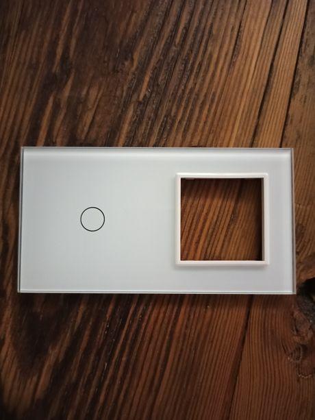 Włącznik szklany dotykowy biały panel