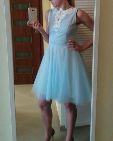 Sukienka od projektanta Wilki Sukienkowo r. XS LOU tiul