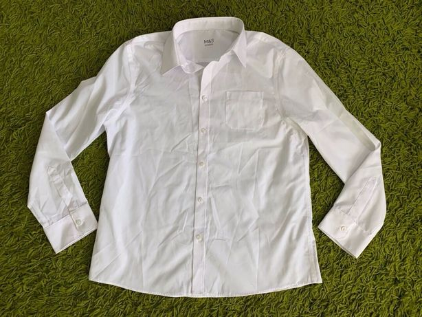 Белая рубашка M&S на 13-14 лет