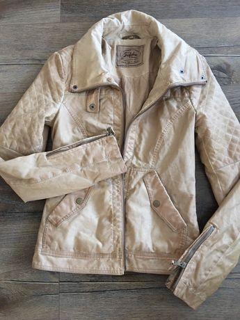 Ramoneska Zara S kurtka skórzana na podszewce
