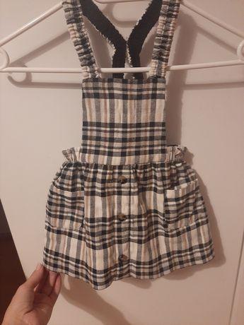 Spódnica ogrodniczka sukienka Zara