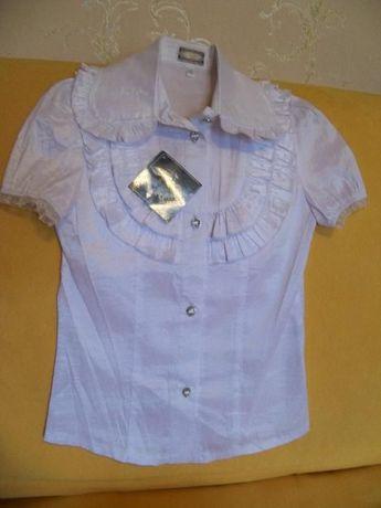 Продам белую блузу (школьная форма)