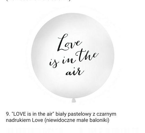 Strzelający Balon gigant na wesele 1metr, małe balony, zapalnik, pióra