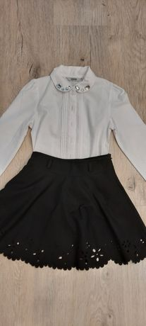 Красивая школьная юбка солнце и  белая рубашка. Только донецк 122р