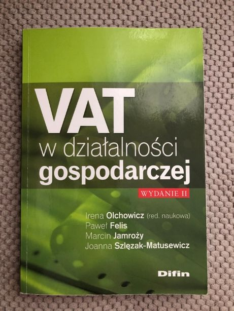 VAT w działalności gospodarczej wydanie II, Difin