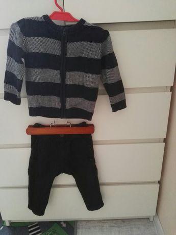 Sweter spodnie bojówki zara,cocodrillo