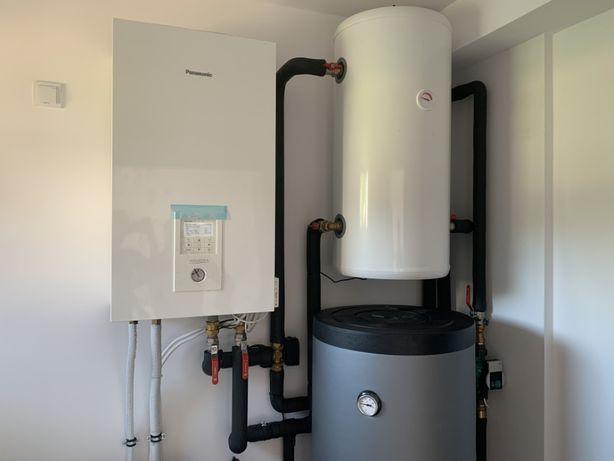 Pompa ciepła Panasonic z montażem! CO + CWU Zbiorniki wody w cenie!