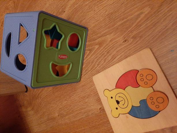 Sprzedam klocki i drewniane puzle