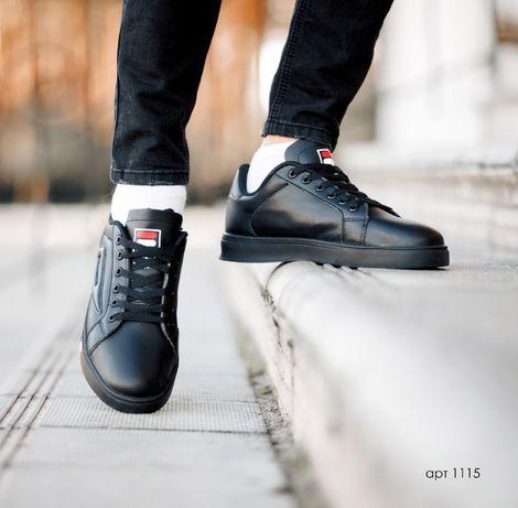 SALE! Кроссовки FILA ® кросівки COURT DELUXE ALL Black Черные 40-44