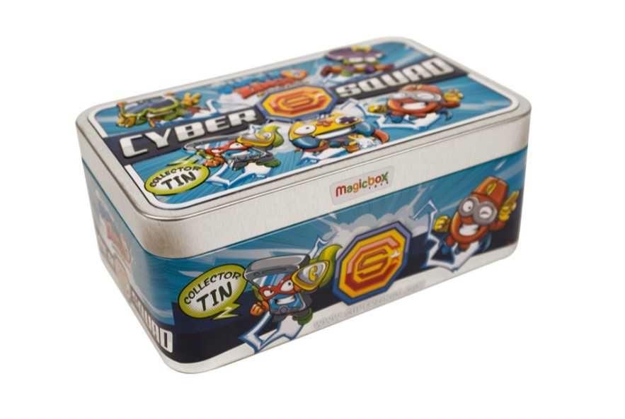 Super Zings Caixa de Metal Cyber Squad 5 Bonecos Novo