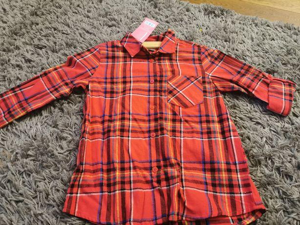 Śliczna koszula dziewczęca krata 116 nowa