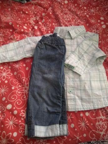 Elegancki zestaw koszula i spodnie rozmiar 6 miesiecy