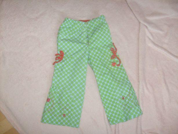 spodnie 5 10 15 rozmiar 92, słodkie dla dziewczynki, regulowany pas