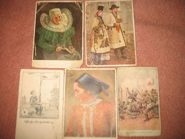 sprzedam pięć starych przedwojennych pocztówek niemieckich