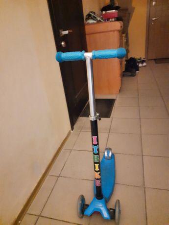 Самокат iTrike Maxi Голубой