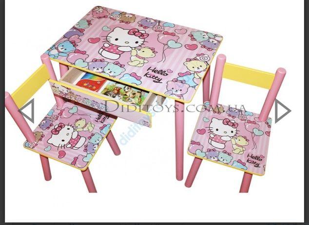 Детский столик стульчик (Разные картинки) супер подарок для ребенка