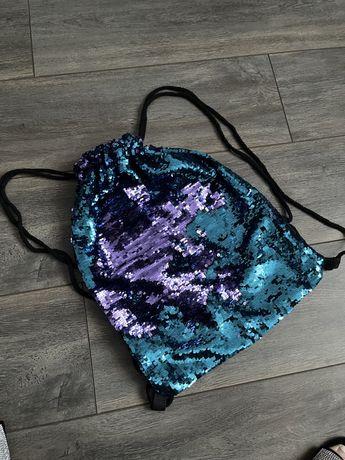 Рюкзак -торбинка з паєток, колір регулюється!New.