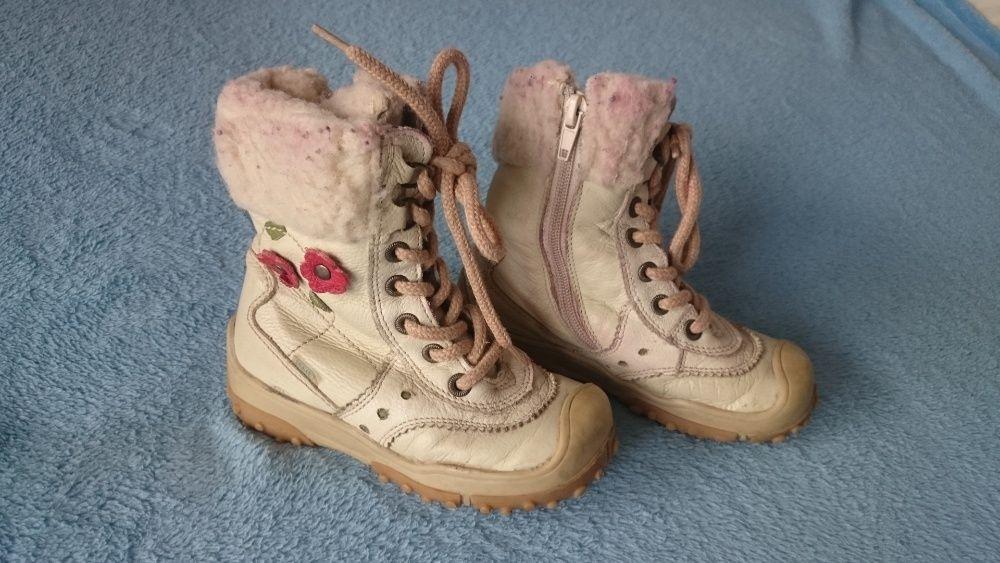 Buty skórzane z futerkiem rozmiar 26, JAMET , beżowe , Radom Radom - image 1