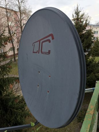 Antena czasza konwerter podwójny mocowanie komplet polsat