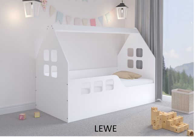 Łóżko dziecięce DOMEK 160x80 + materac + pokrowiec
