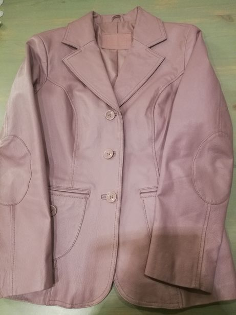 Nowa!!! Kurtka skórzana damska skóra nautralna liliowy kolor nowa