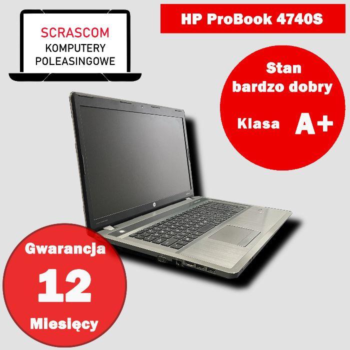 Laptop HP ProBook 4740S i5 8GB 240GB SSD 17 cali Windows 10 Gwar 12msc