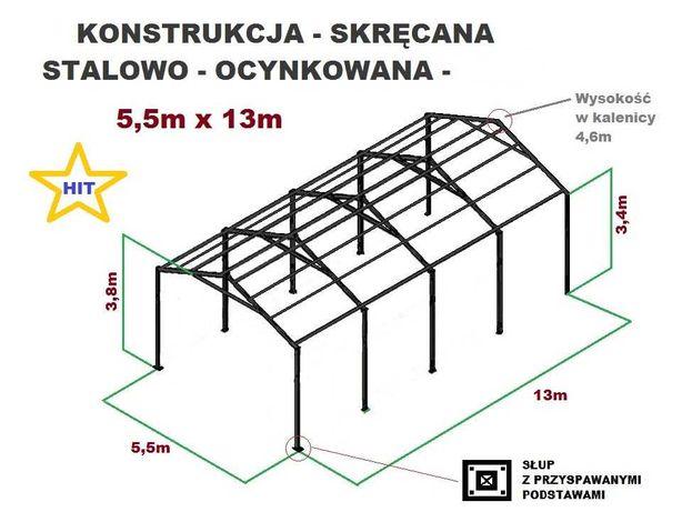 Wiata Garaż 5,5x13 Hala Magazyn Konstrukcja OCYNKOWANA Kombajn Bizon