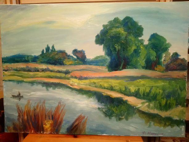 Картина масло, холст на подрамнике, 70х50 см. Пейзаж.