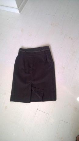spodnica ołówkowa szara/brązowa elegancka M