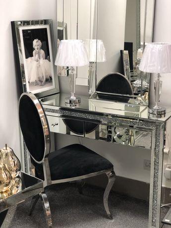 Toaletka lustrzana z kryształkami Glamour