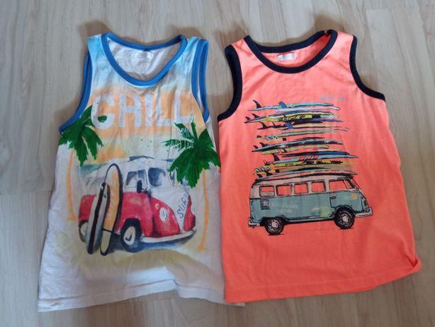 Koszulki na lato dla chłopca 122