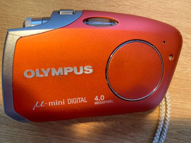 Aparat Olympus mju mini digital z oryginalnym pudełkiem i dokumentacją