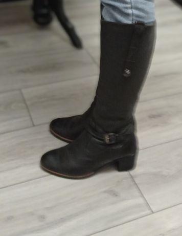 Сапоги ботинки кожа 37 р.