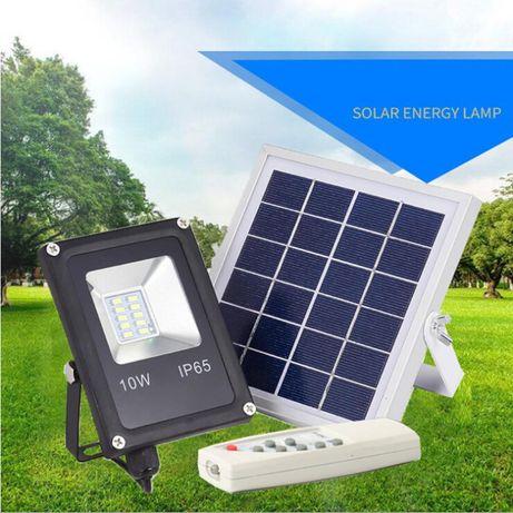 Halogen naświetlacz lampa 10W solar fotowolaika ogród altana kamper