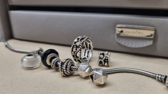 Klipsy koralik charms murano Pandora tt bransoletka 18