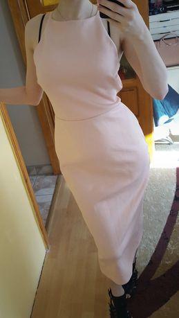 Ołówkowa sukienka z kokardą r. M