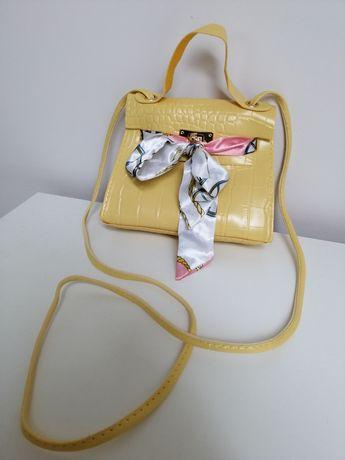 Żółta Torebka Mała z kokardą