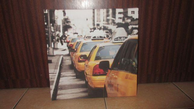 obraz 30x30cm taxi New York