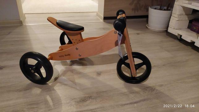 Rowerek biegowy 2W1 chodzik, drewniany jeździk