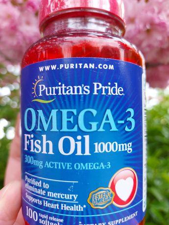 Рыбий жир Puritans Pride Omega-3 Fish Oil, 1000 mg 100 капсул