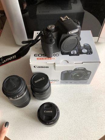 Фотоаппарат Canon eos 500d и объектив 18-55, объектив 55-250