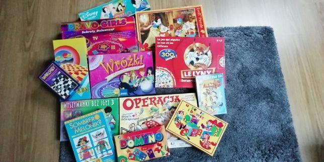 Gry planszowe, interaktywne, warcaby, domino, puzzle