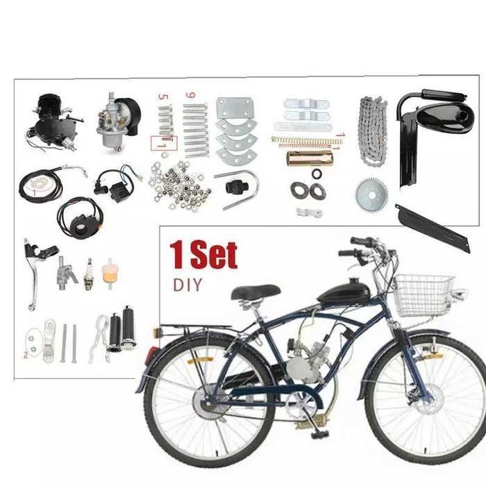 Kit bicicleta a motor novo bina preto Amora - imagem 1