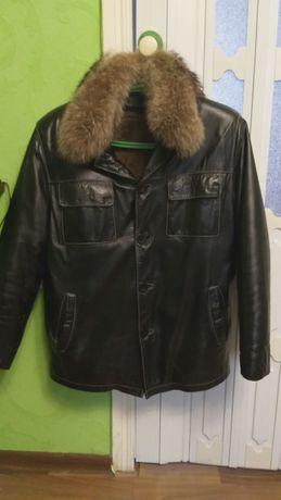 Коженая Куртка мужская (Зима-Весна 2 в одном)