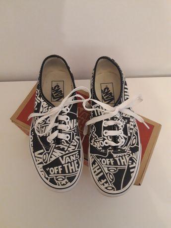 Biało-czarne Vans Authentic