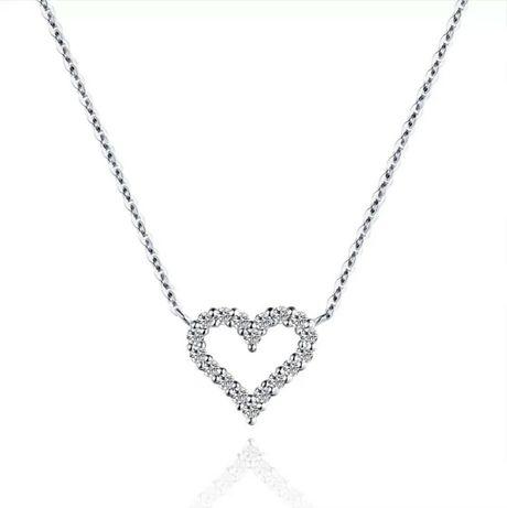 Подвеска кулон сердце цепочка серебро 925