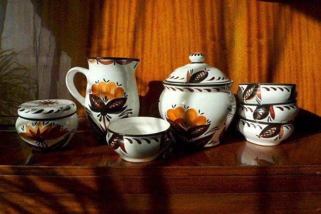 Набор посуды (керамика) - для вареников, суповой