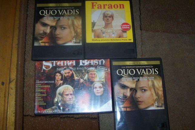 Quo Vadis, Faraon, Stara Baśń - filmy DVD . Lektury